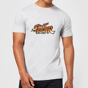 Street Fighter Logo Men's T-Shirt - Grey