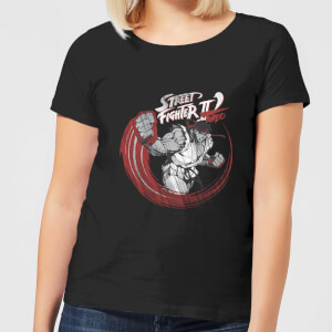 Street Fighter RYU Sketch Damen T-Shirt - Schwarz