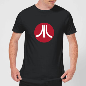 Atari Circle Logo Mens T-Shirt - Schwarz