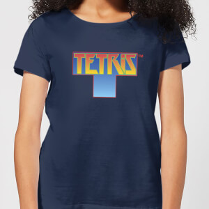 Tetris Block Women's T-Shirt - Navy