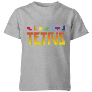 T-Shirt Enfant Multi Blocs Tetris - Gris
