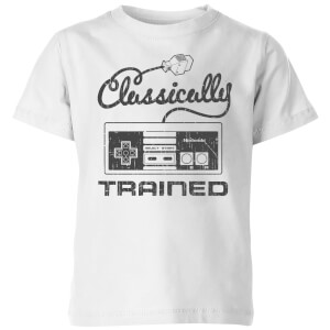 Nintendo Retro NES Classically Trained Kinder T-shirt - Wit