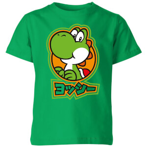 Nintendo Super Mario Yoshi Kanji Kids' T-Shirt - Kelly Green