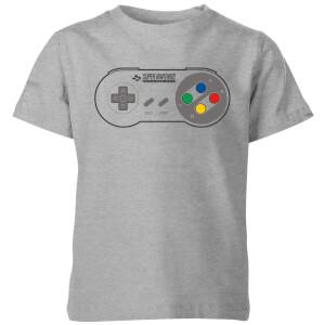 Nintendo SNES Controller Pad Kids' T-Shirt - Grey