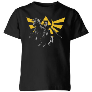 Nintendo The Legend Of Zelda Hyrule Link Kinder T-shirt - Zwart