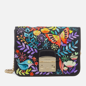 Furla Women's Metropolis Small Cross Body Bag - Black Print