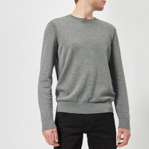 Michael Kors Men's Sleek Crew Neck Knitted Jumper - Ash Melange