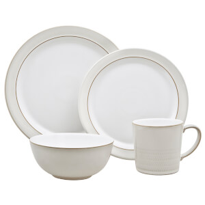 Denby Natural Canvas 4 Piece Place Setting Set