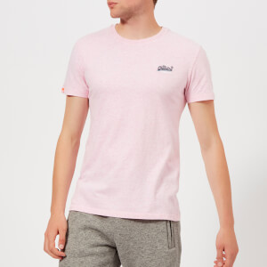 Superdry Men's Orange Label Vintage Emb T-Shirt - Pastel Pink Marl