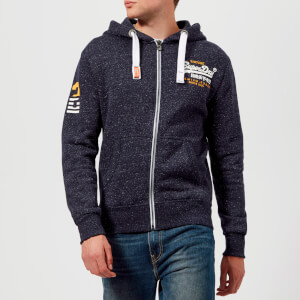 Superdry Men's Premium Goods Zip Hoody - Atlantic Navy Grit