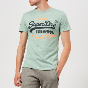 Superdry Men's Premium Goods Duo T-Shirt - Light Haze Green Grit