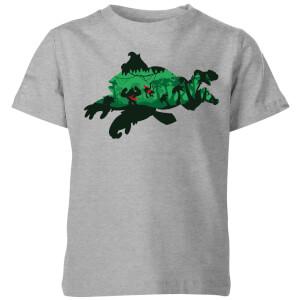 T-Shirt Nintendo Donkey Kong Silhouette - Grigio - Bambini