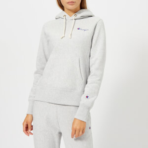 Champion Women's Hooded Sweatshirt - Grey Heather
