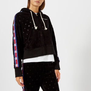 Champion Women's Zip Through Velour Hoody - Black