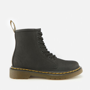 Dr. Martens Kids' 1460 J Serena Fleece Lined Lace Up Boots - Black
