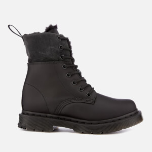 Dr. Martens Women's 1460 Kolbert Waterproof 8-Eye Boots - Black