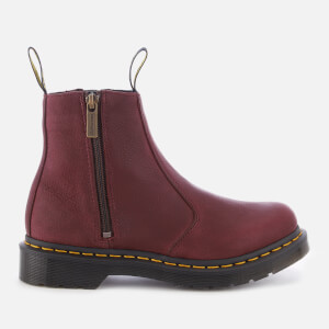 Dr. Martens Women's 2976 Grizzly Leather Zip Chelsea Boots - Cherry Red