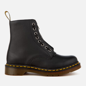 Dr. Martens Women's 1460 Pascal Front Zip Arcadia Leather 8-Eye Boots - Black