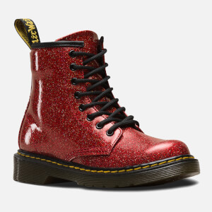 Dr. Martens Kids' 1460 T Glitter Lace Up Boots - Red Multi: Image 2
