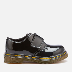 Dr. Martens Toddlers' Kamron T Patent Lamper Single Velcro Flats - Black