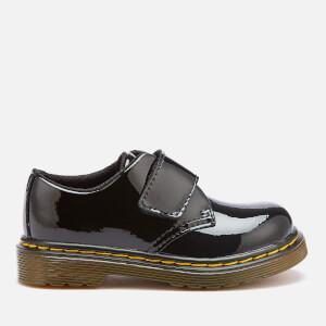 Dr. Martens Toddlers' Kamron T Patent Lamper Single Velcro Flats - Black