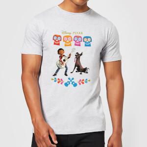 T-Shirt Homme Miguel et Logo Coco - Gris