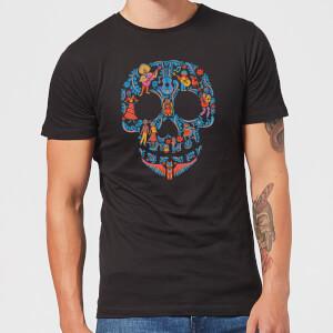 T-Shirt Homme Motif Tête de Mort Coco - Noir
