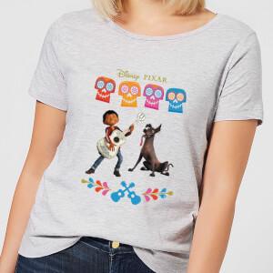 T-Shirt Femme Miguel et Logo Coco - Gris