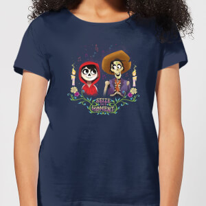 Coco Miguel And Hector Women's T-Shirt - Navy