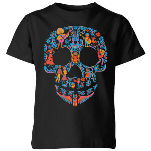 Disney Coco Skull Patroon Kinder T-shirt - Zwart