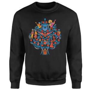 Coco Tree Pattern Sweatshirt - Black
