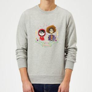 Coco Miguel And Hector Sweatshirt - Grey