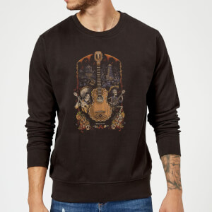 Coco Guitar Poster Sweatshirt - Black