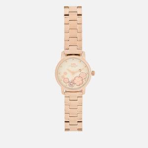 Coach Women's Grand Floral Watch - Rose Gold