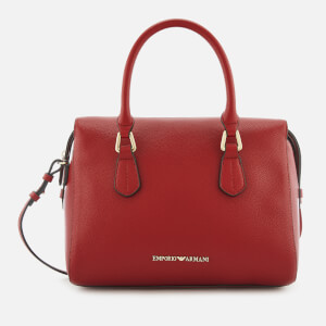 Emporio Armani Women's Boston Top Handle Shopper Bag - Red