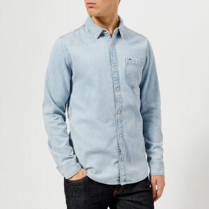 Tommy Jeans Men's Classic Denim Shirt - Saunby Light Rigid
