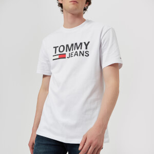 Tommy Jeans Men's Tommy Classics Logo T-Shirt - Classic White