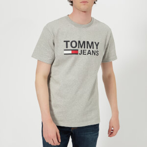 Tommy Jeans Men's Tommy Classic Logo T-Shirt - Light Grey Heather