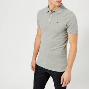 Tommy Jeans Men's Original Fine Pique Polo Shirt - Light Grey Heather