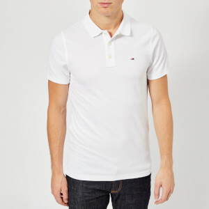 Tommy Jeans Men's Original Fine Pique Polo Shirt - Classic White