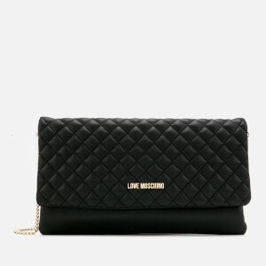 Love Moschino Women's Small Quilted Cross Body Bag - Black