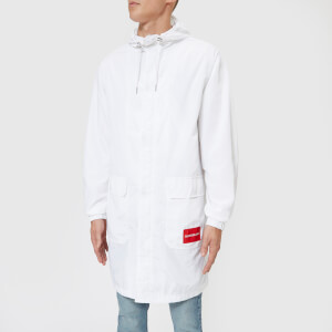 Calvin Klein Jeans Men's Institutional Logo Nylon Parka - Bright White