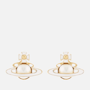 Vivienne Westwood Women's Iris Bas Relief Earrings - Gold