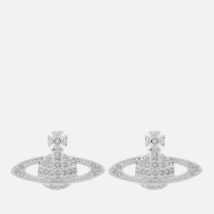 Vivienne Westwood Women's Mini Bas Relief Earrings - Rhodium