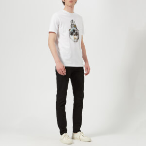 PS Paul Smith Men's Short Sleeve Skull Regular Fit T-Shirt - White: Image 3