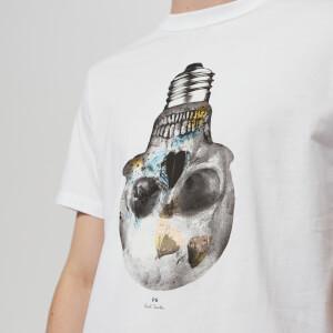 PS Paul Smith Men's Short Sleeve Skull Regular Fit T-Shirt - White: Image 4