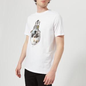 PS by Paul Smith Men's Short Sleeve Skull Regular Fit T-Shirt - White