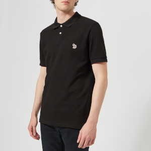 PS Paul Smith Men's Short Sleeve Zebra Polo Shirt - Black