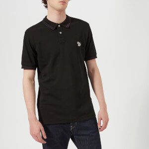 PS by Paul Smith Men's Regular Fit Short Sleeve Tipped Polo Shirt - Black