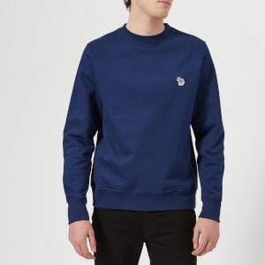 PS by Paul Smith Men's Regular Fit Zebra Sweatshirt - Cobalt